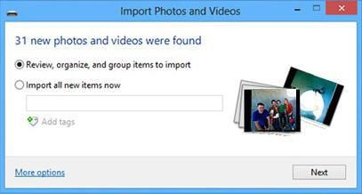 import pictures from phone to PC