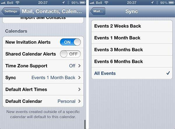 iPhone calendar problems-Unable to add or disappearing events