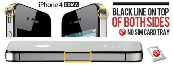 identify iphone 4 gsm and iphone 4 cdma