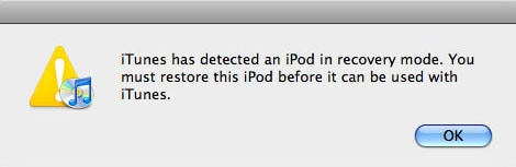 ipod recovery mode
