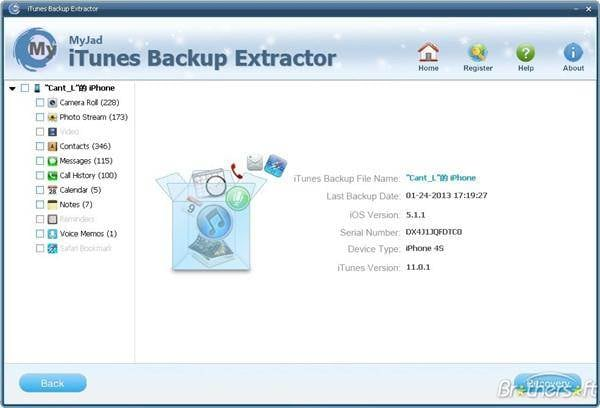 MyJad iTunes Backup Extractor