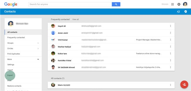 manage google contacts