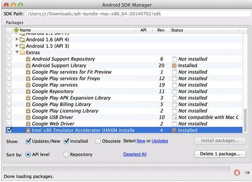 mobile emulator-Intel x86 Emulator Accelarator