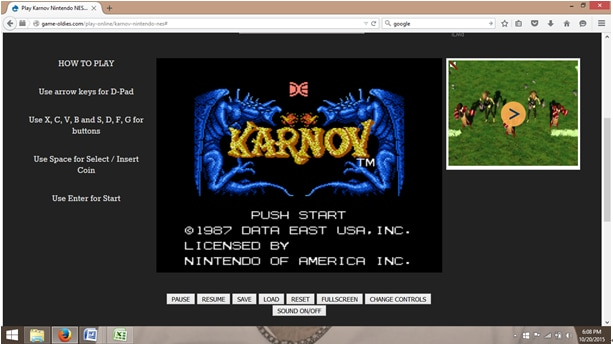 online emulators-how to play the arrows for the directions