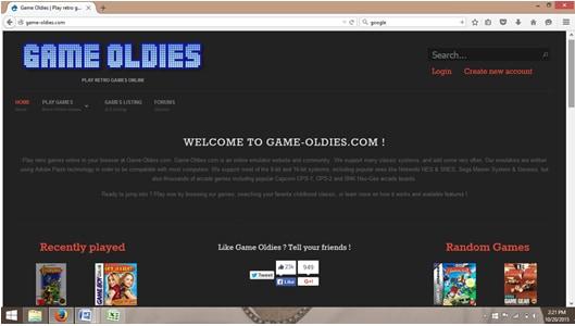 online emulators-game oldies