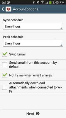 step 5 to set up iCloud account on Android