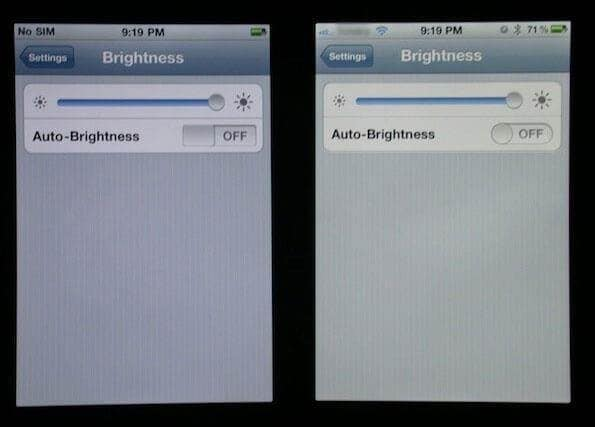 reset iphone Battery-Decrease Screen Brightness