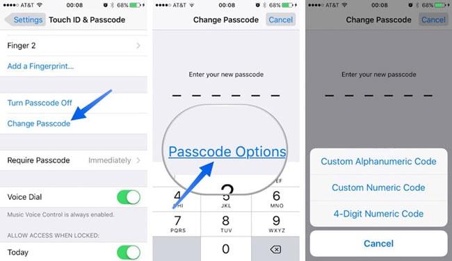 how to reset iphone password