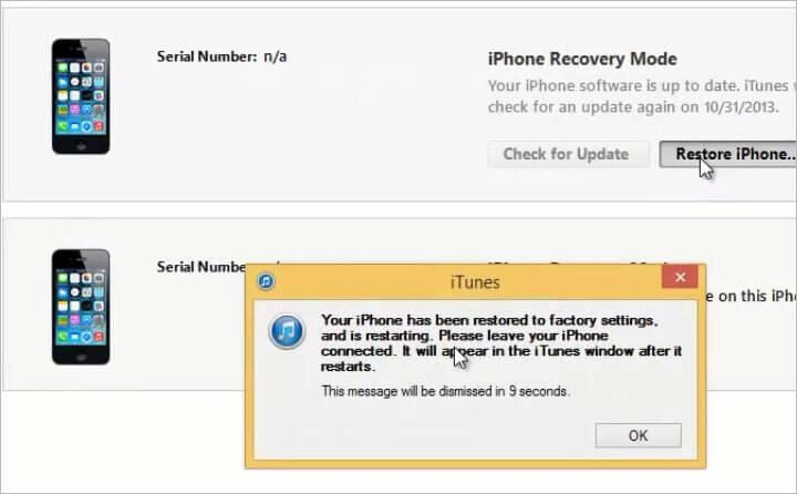 reset iphone zonder apple id