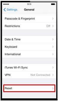 reset iphone Netwerk instellingen
