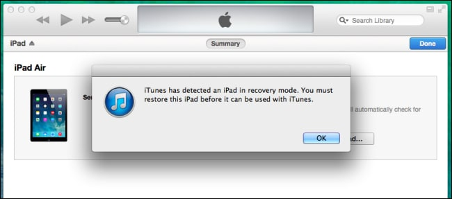 iPad stuck in Recovery Mode