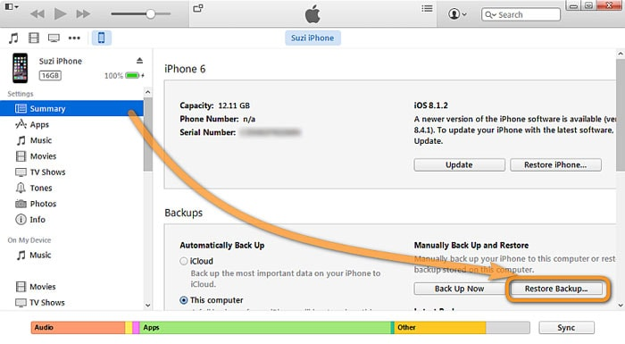 restore wechat history from itunes