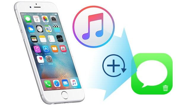 restore sms itunes