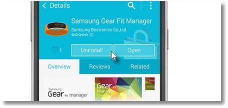 samsung gear fit manager