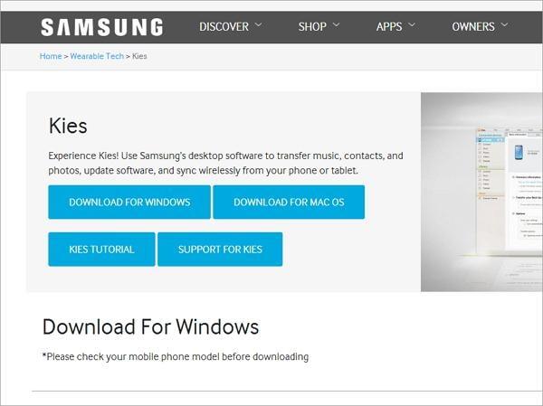 samsung kies download