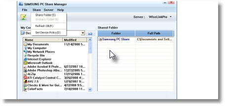 Samsung PC Share Manager