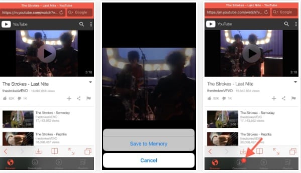 Save YouTube videos to camera roll