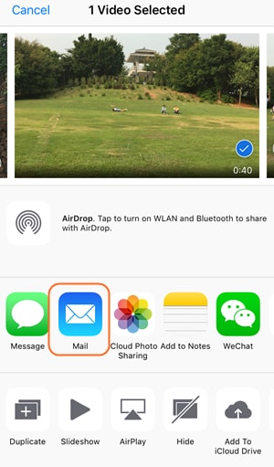 E-Mail iPhone Videos - Mails App auswählen