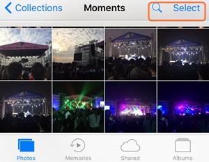 iPhone-Videos per E-Mail versenden - mehrere Fotos auswählen
