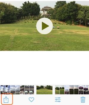 iPhone-Videos per E-Mail versenden - Video für E-Mail auswählen