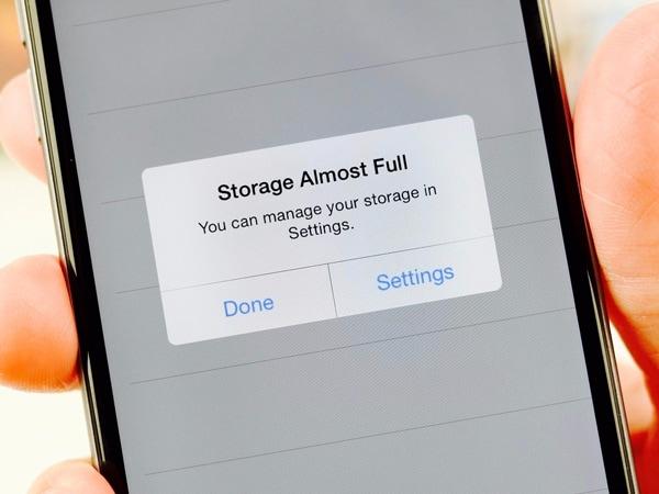 Niet genoeg ruimte op je iPhone