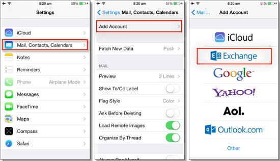 Sync Outlook with iPhone by Using Exchange