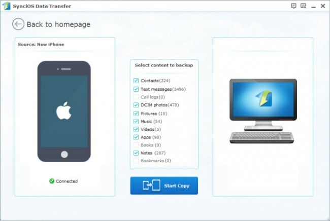 Transfer Apps from iPad to Computer with Third-Party iPad Transfer Software - Syncios