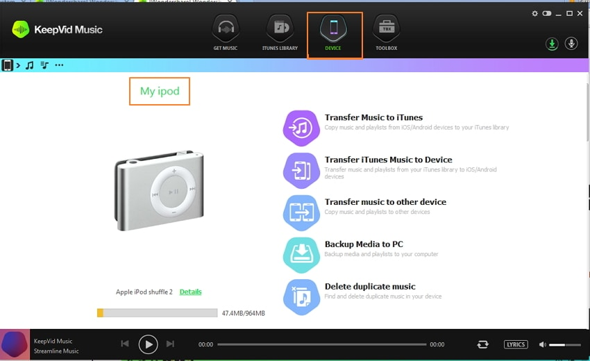 Get Free Music for iPod Touch/Nano/Shuffle Using Keepvid Music-Transfer music to iPod