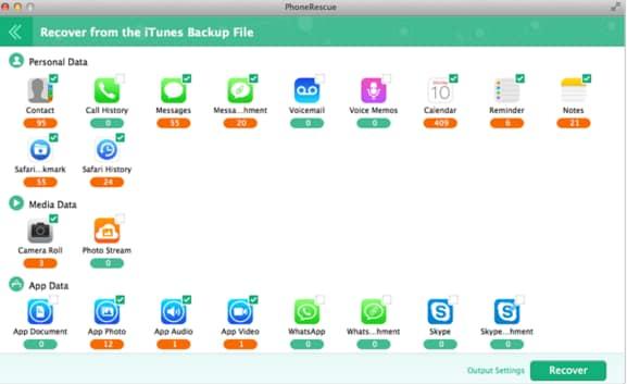 iOS backup software - PhoneRescue