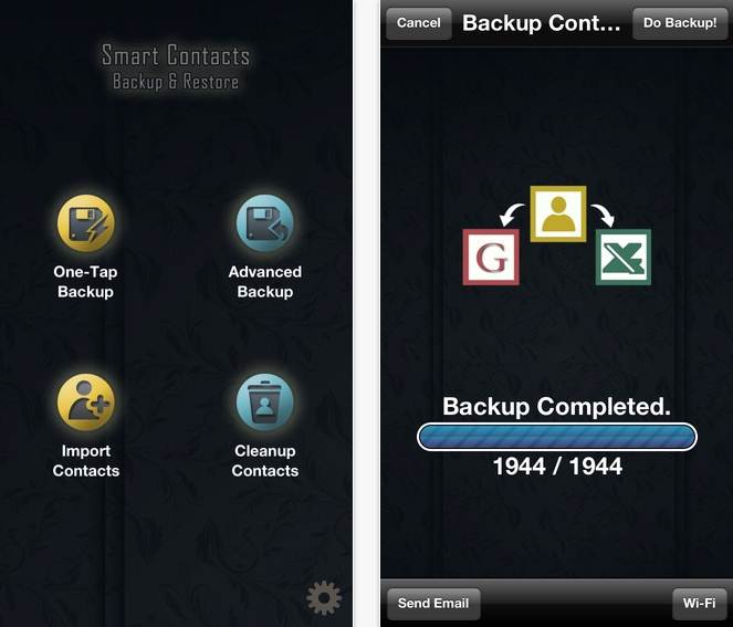 iOS backup app - Smart Contacts Backup and Restore