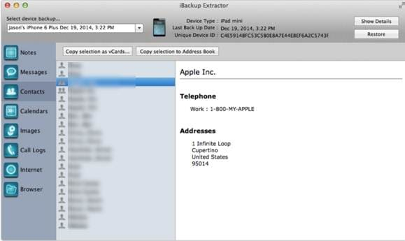 iOS backup software - iBackup Extractor