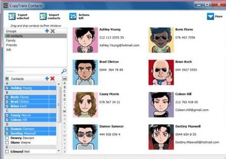 iOS backup software - CopyTrans Contacts