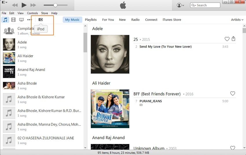 Transfer Audiobooks to iPod Using iTunes-Connect iPod with PC