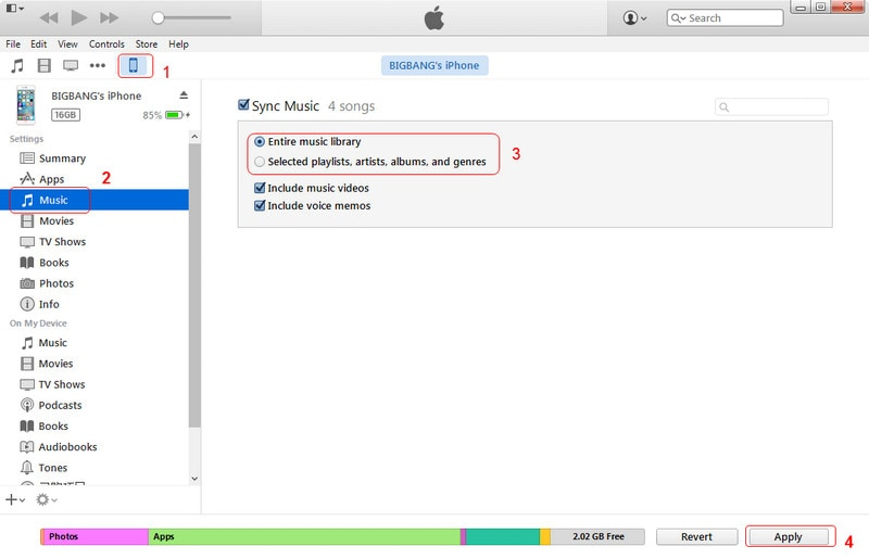 how to transfer cd music to iphone on itunes