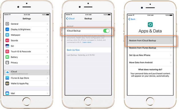 Transfer Contacts from iPhone to iPhone with iCloud