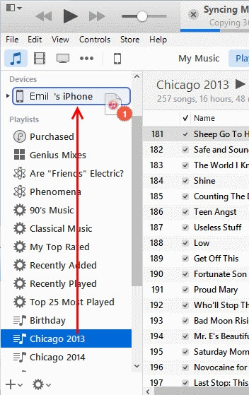 how to transfer playlists from itunes to iphone-sync to your device