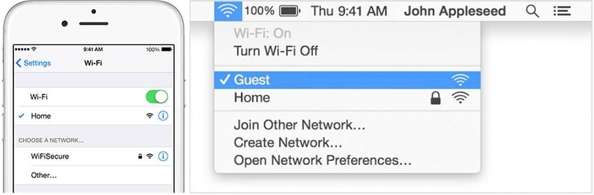 كيفية استخدام airdrop من mac إلى iphone - تشغيل الوايفاي على iPhone و Mac