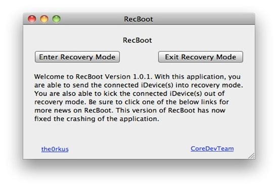 Outil DFU Recboot