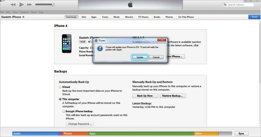Apple iPhone aktualisieren