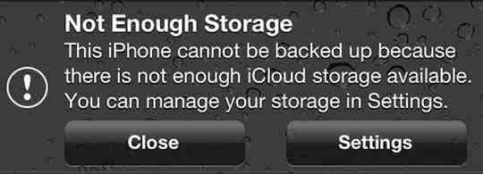 Can't select an iCloud backup