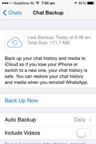 backup whatsapp messages-tap on the option Auto Backup