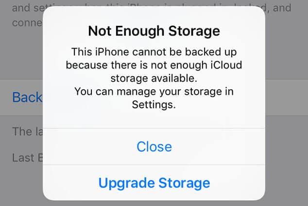 icloud storage not enough