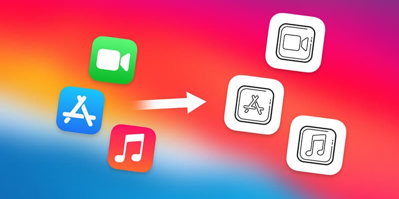 change the app icons