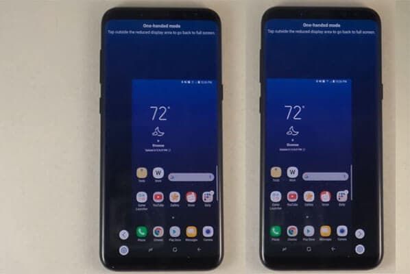 Samsung one-handed mode