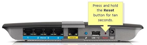 Router-Zurücksetzen-Knopf
