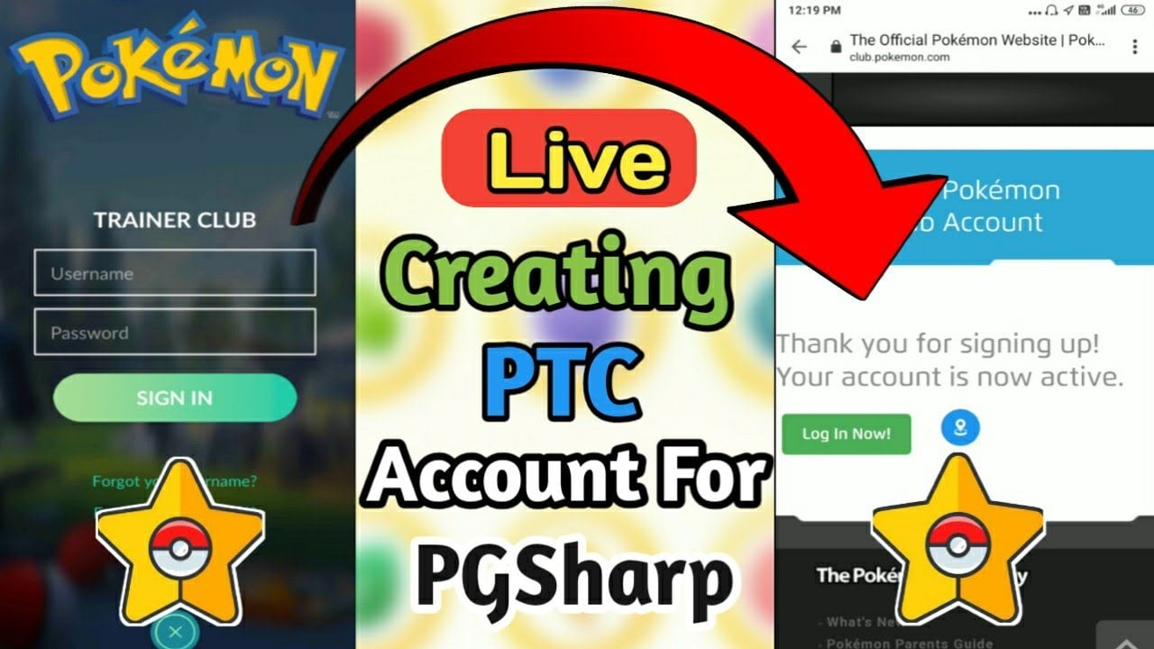 create your PTC account first