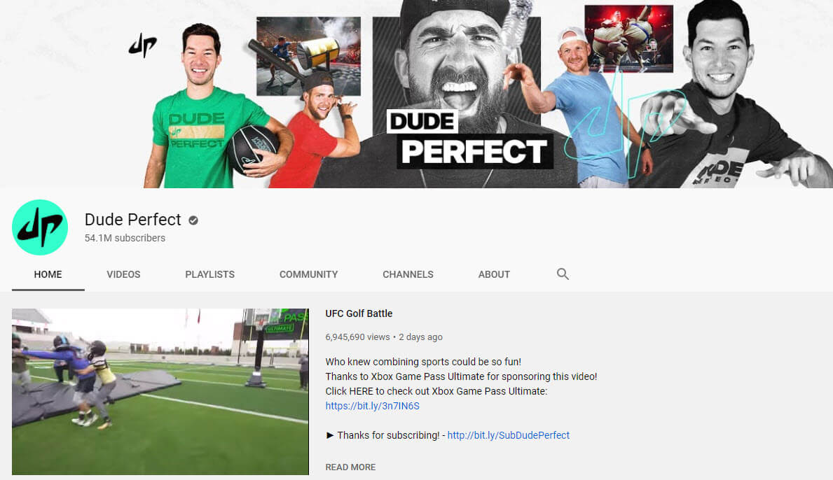 dude perfect youtube vlogger