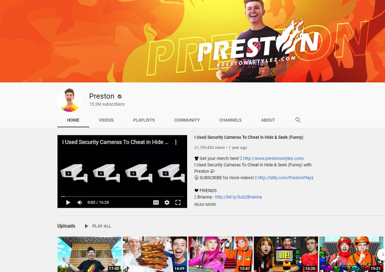 preston youtube vlogger