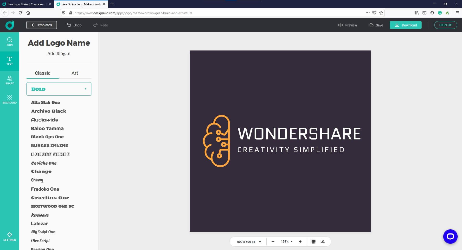 AI Logo Creator - DesignEvo