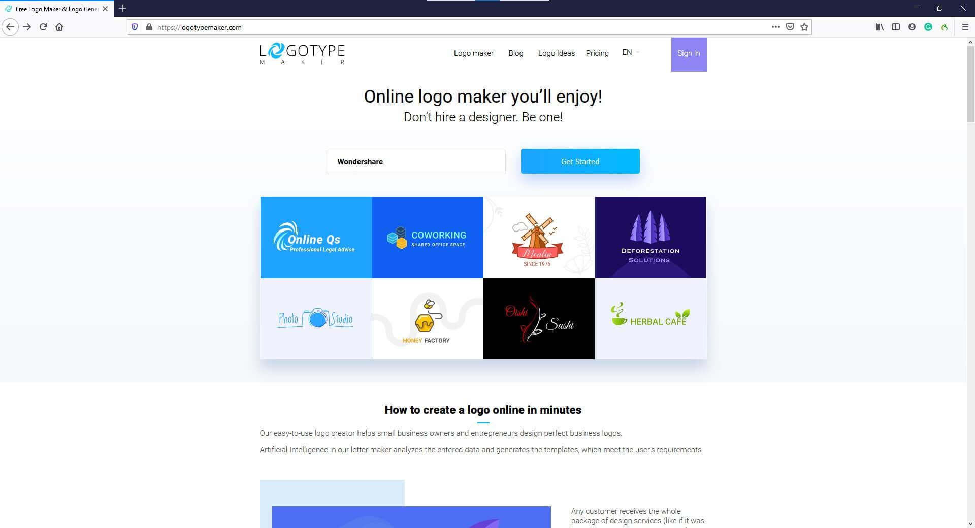 AI Logo Creator - LogotypeMaker